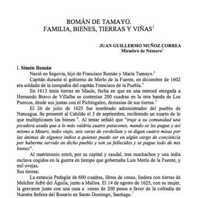 Román de Tamayo, Familia, Bienes, Tierras y Viñas