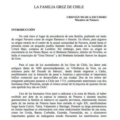 La familia Grez de Chile.