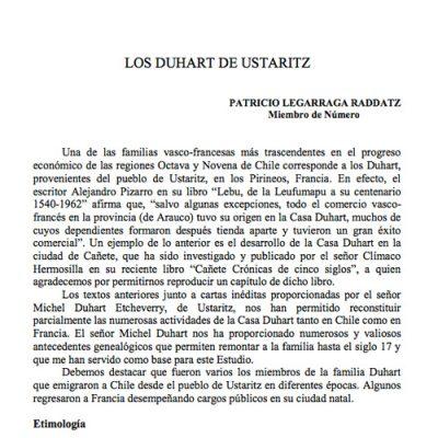 Los Duhart de Ustaritz