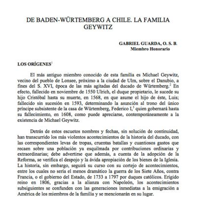 De Baden -Würtemberg a Chile, La Familia Geywitz