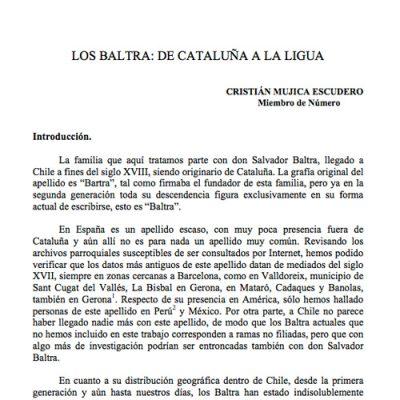 Los Baltra: De Cataluña a La Ligua