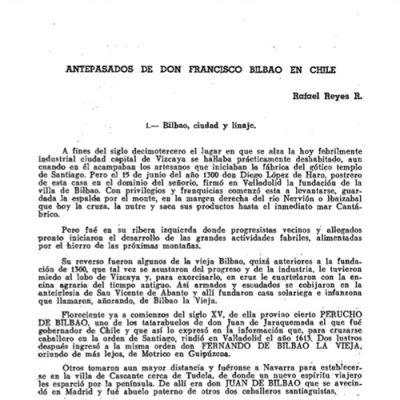 Antepasados de don Francisco Bilbao en Chile