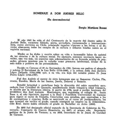 Homenaje a don Andrés Bello