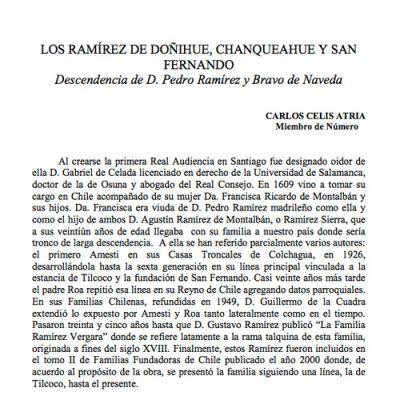 Los Ramírez de Doñihue, Chanqueahue y San Fernando