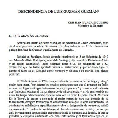 Descendencia de Luis Guzmán Guzmán.