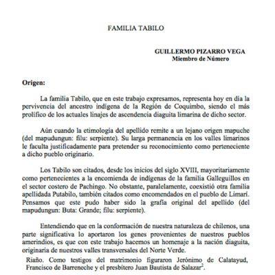 Familia Tabilo.