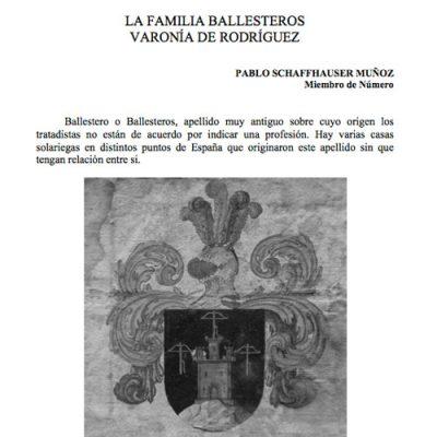 La familia Ballesteros. Varonía Rodríguez.